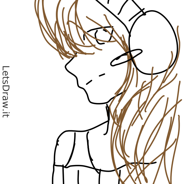 Anime Girl Headphones Anime Draw Guess Draw Pictionary